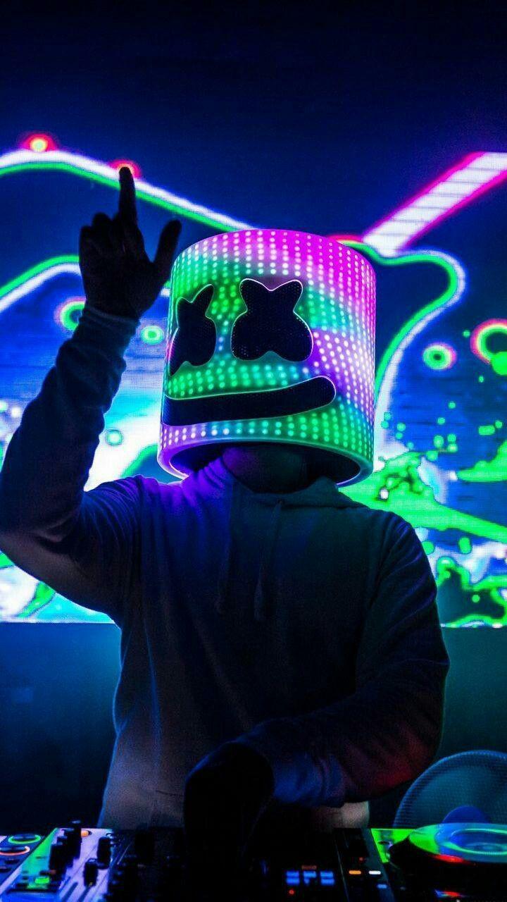 Wallpaper Background Marshmello Dj Set Mellogang In 2020 Music Wallpaper Neon Wallpaper Joker Wallpapers
