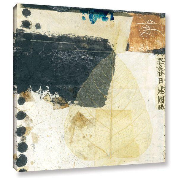 ArtWall Elena Ray 'Wabi-Sabi Bodhi Leaf Collage 2' Gallery-wrapped Canvas