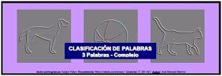 Informática para Educación Especial: Clasificación de palabras: 3 elementos, nivel comp...