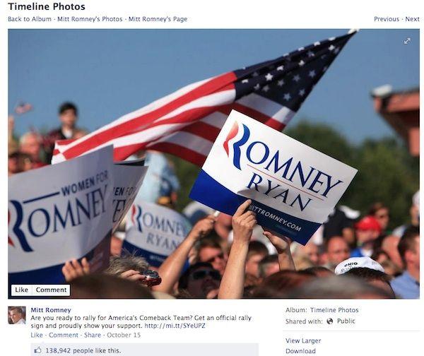El perfil de Romney no recurre al humor y centra sus mensajes en pedir donaciones y lanzar sus consignas políticas