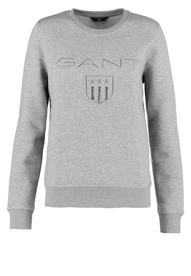 Bestill GANT Genser - grey melange for kr 949,00 (22.11.16) med gratis frakt på Zalando.no