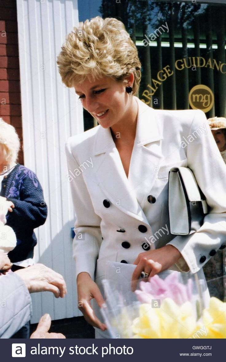 June 23 1993 Princess Diana visits Chesterfield Branch of 'Relate' Marriage Guidance Centre