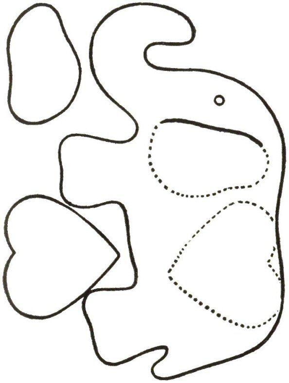 Elephant Stuffed Toy Free Sewing Pattern - KarensVariety.