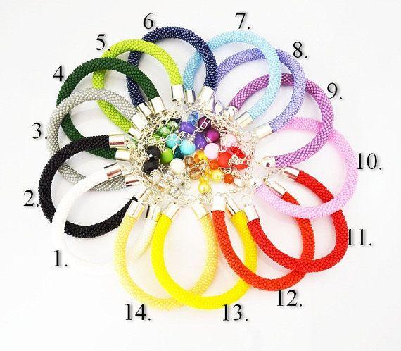 Jewelry Bracelets Beadwork Bracelet Crystal by SzkatulkaAmi