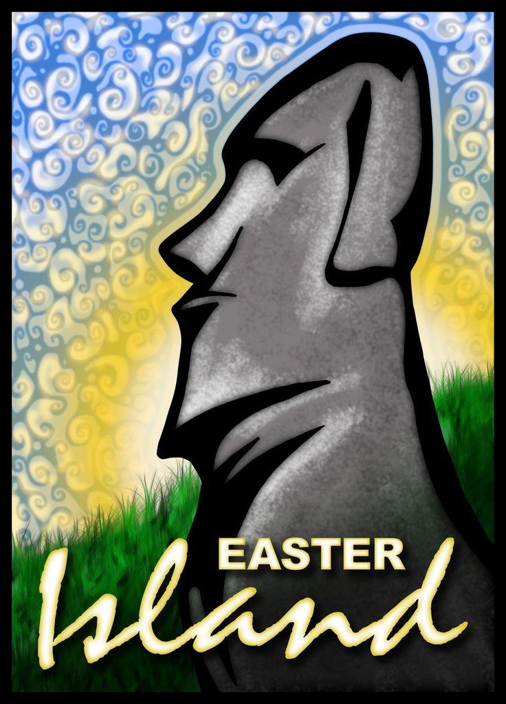 Moai - Easter Island 3 by inspired-imaging.deviantart.com on @DeviantArt