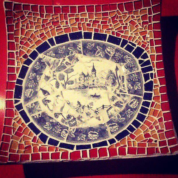 Mosaico. Bandeja para frutas