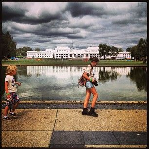Check out this Canberra moment at the world's first Human Brochure.