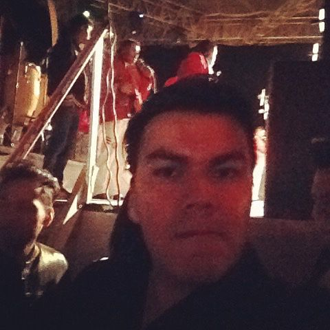 En el backstage con la banda...