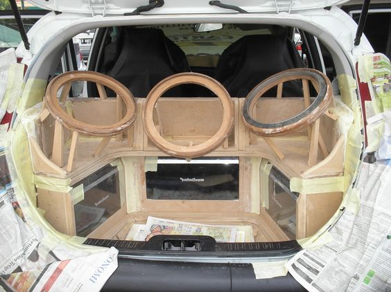 The Amplifiers Rack And Subwoofer Box es Woodworks In Progress