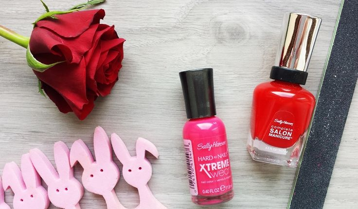 #nails #red #pink