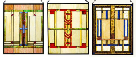 craftsman stained glass pannels