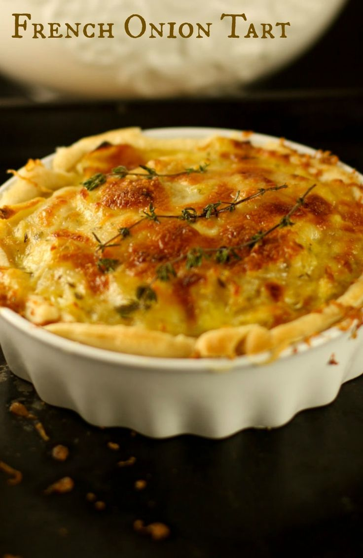 French Onion Tart - Carmelized onions turn this tart into an amazing brunch, lunch or side dish.