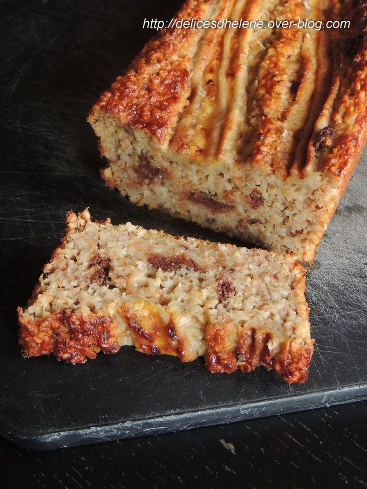 CAKE A LA BANANE, FLOCONS D'AVOINE ET CHOCOLAT (WW)