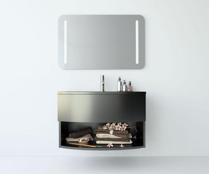 Muebles de baño a medida. Ejemplo de acabados en madera natural, laminados, lacas brillo o mate, etc.  unibaño-compactos-acabados-11
