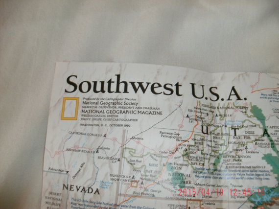 National Geographic Map/Poster Southwest USA The Land of