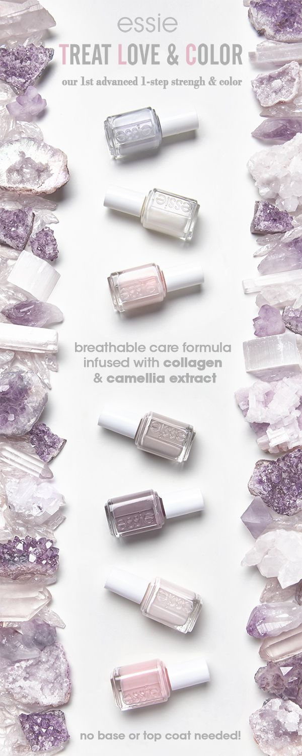 give your nails some TLC with NEW treat love & color. our first advanced 1-step care & color nail polish! nails look instantly perfected and polished with visually brightening pigments in the prettiest of sheer and crème shades. experience stronger nails in just one week with 60% less peeling and 35% less breakage! TLC nail treatment comes in a range of shades - from baby pink to nude gray tones to creamy white nail colors