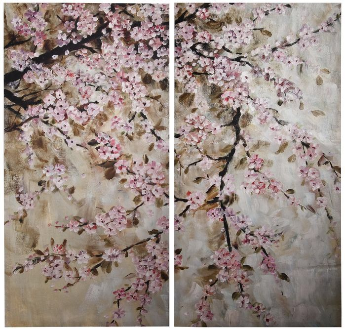Cherry Blossom Canvas Wall Art 359 best asian art ii images on pinterest | asian art, canvas art