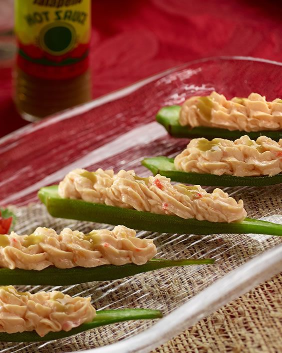 Pimento Cheese with Grilled Okra
