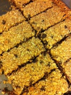Whitewater Granola Bars from Whitewater Cooks at Home.  Filled with oats, sesame seeds, sunflower seeds, and coconut!