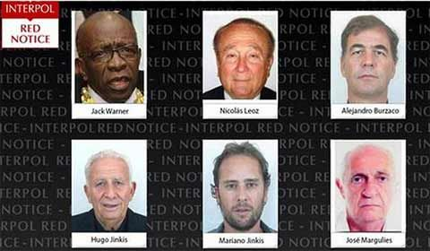Interpol issues Red Notices for six top FIFA officials