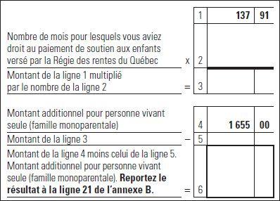 Revenu Québec - Ligne 361 - Montant accordé en raison de l'âge ou pour personne vivant seule ou pour revenus de retraite