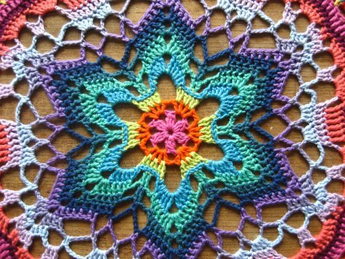 #Crochet starflower mandala