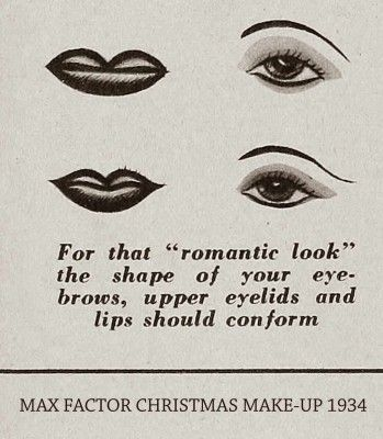 1934 Christmas Makeup Tricks by Max Factor