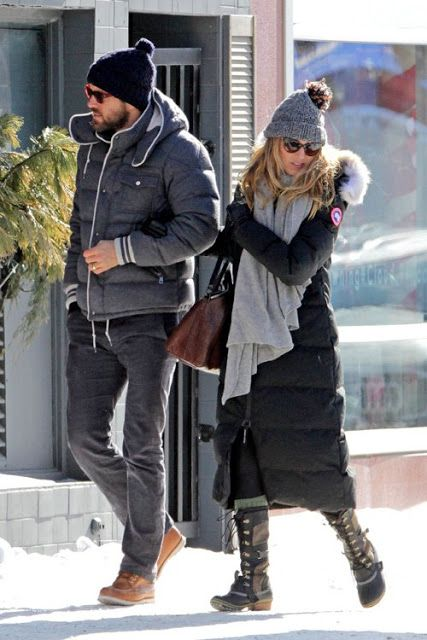Blake Lively in Sorel Conquest Carly Boots. Yep, need those and Ryan Reynolds to keep me warm this winter.