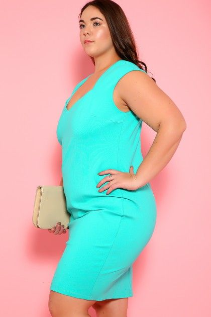 0174cad86 Sexy Jade Sleeveless Knee Length Party Plus Size Dress ...