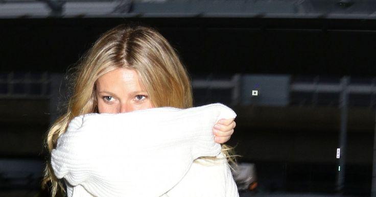 Vom Winde verweht – und in krasser Zeitnot. Auf dem Weg zum Flugzeug ging bei Gwyneth Paltroweiniges schief ...