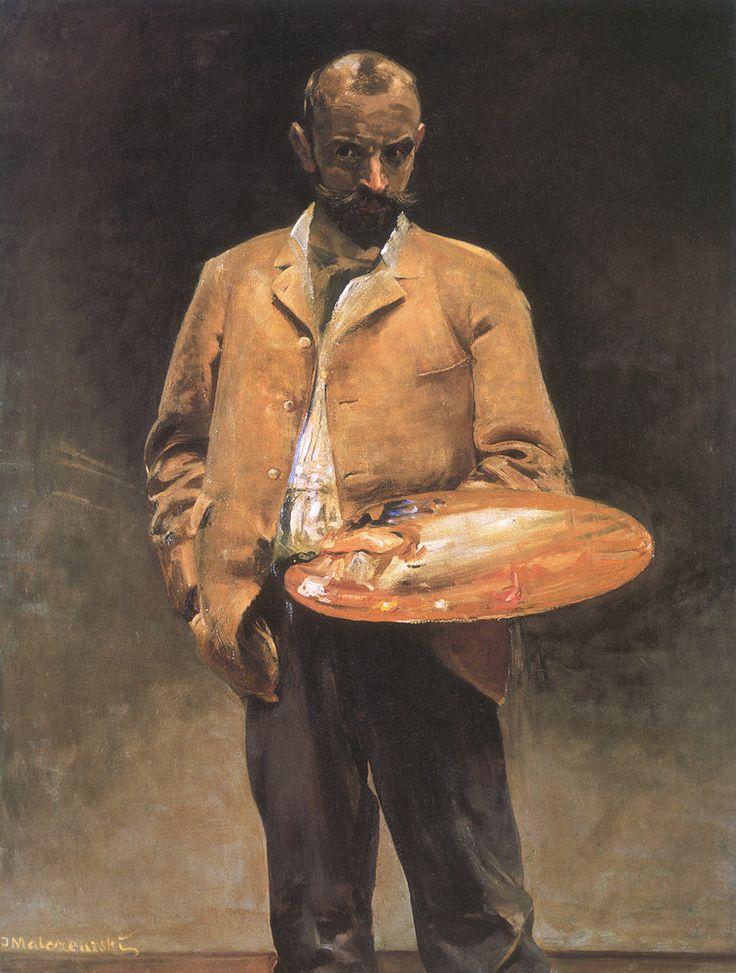Self-portrait with palette - Jacek Malczewski