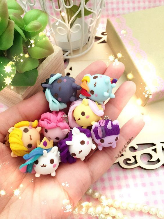 Mlp Jewelry Kawaii Polymer Clay Charms Mochi Necklace