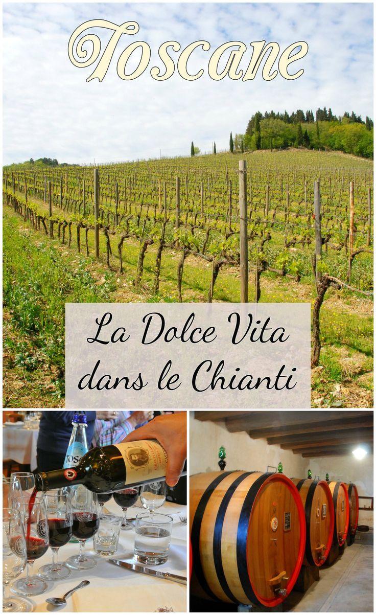 La route des vins dans le Chianti, Toscane, Italie