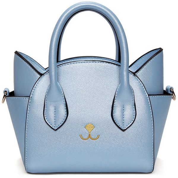 Cat Shape Solid Color Tote Bag ( 99) ❤ liked on Polyvore featuring bags ade3e20f6bf9a