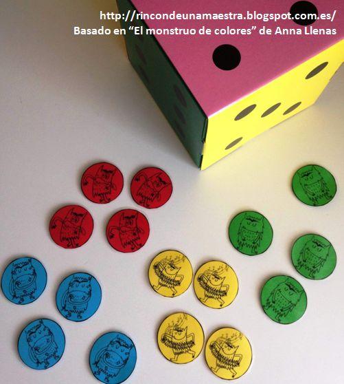 """Rincón de una maestra: El parchís de """"El monstruo de colores"""""""