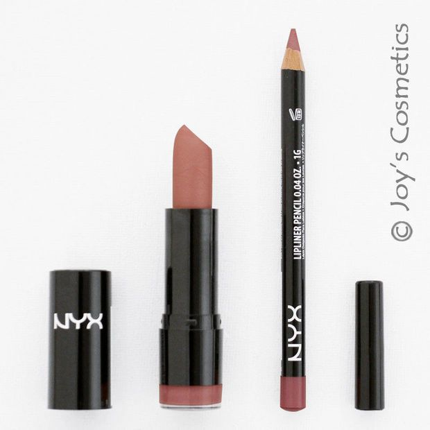 2 NYX Round Lipstick 529 Thalia + Slim Lipliner 810 Natural Set*Joy's cosmetics*