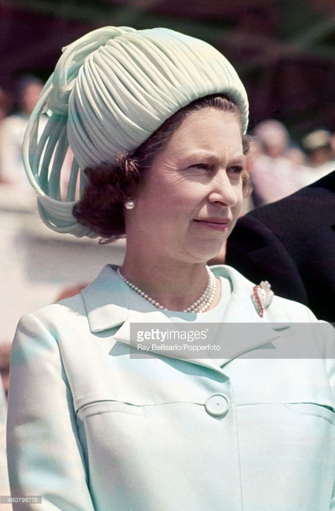 Queen Elizabeth II attending the Epsom Derby in Surrey on 3rd June 1970. (Photo by Ray Bellisario/Popperfoto/Getty Images)