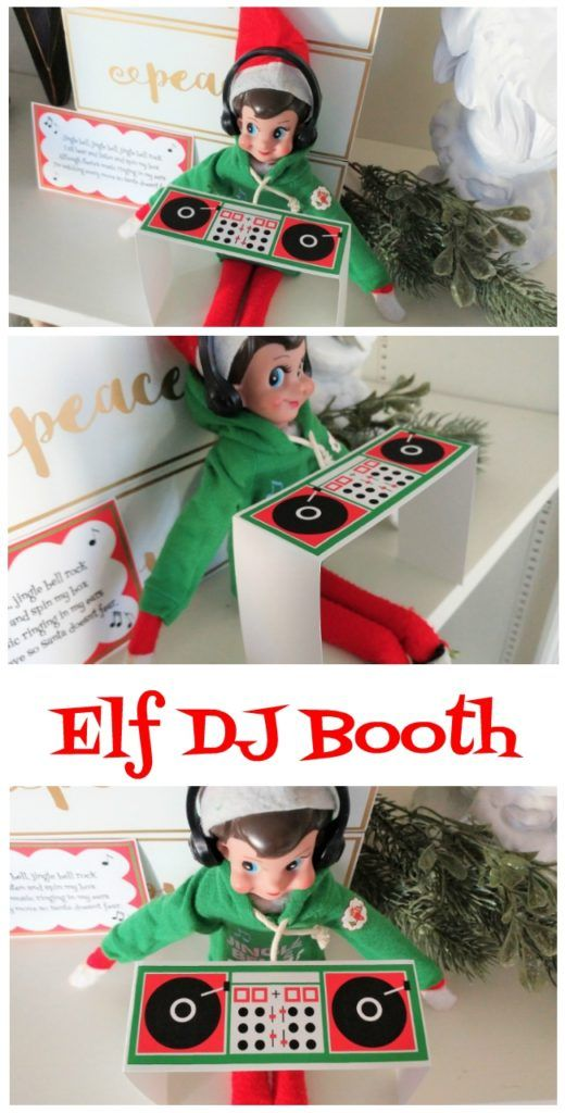 Printable Elf DJ Booth Preschool Learning https://www.amazon.com/Kingseye-Painting-Education-Cognitive-Colouring/dp/B075C661CM