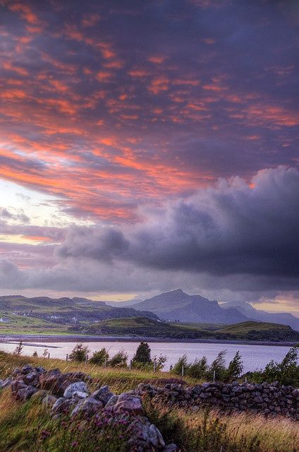 Sunset on the Isle of Skye, Scotland.I want to go see this place one day.Please check out my website thanks. www.photopix.co.nz
