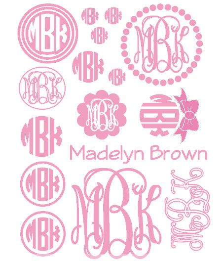 Image result for Free Circle Monogram Fonts Jwn