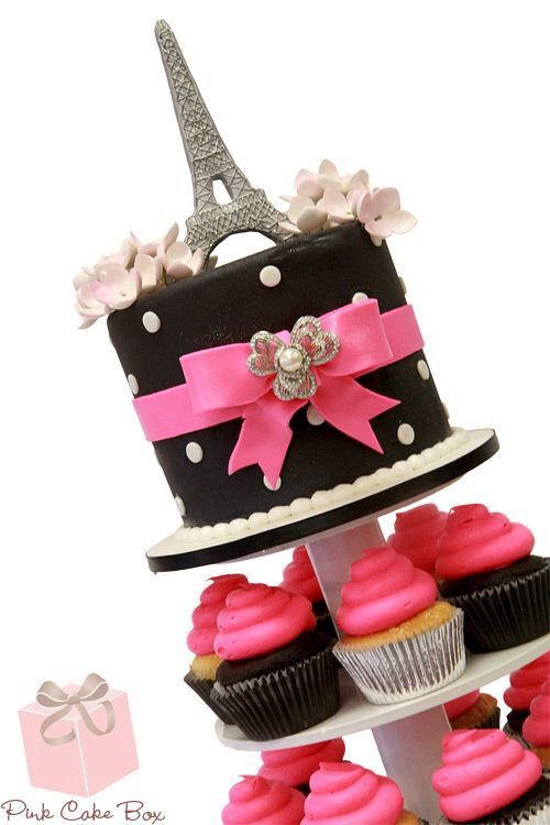 smart idea--Emma would get the top cake and guests could have the cupcakes…SMART way to keep costs down!