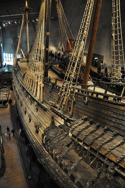 The Vasa Museum, Stockholm, Sweden. ~The largest and most intact shipwreck in the world sank to the bottom of Stockholm Harbor in 1628. It was raised, after more than 3 centuries, in 1961.