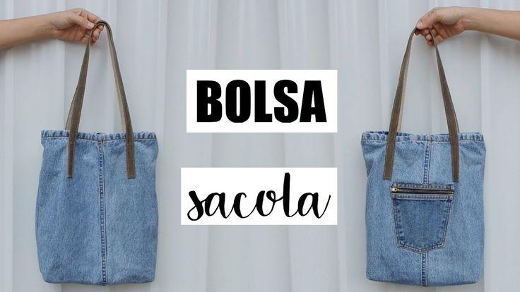 DIY BOLSA SACOLA FEITA COM MATERIAIS REUTILIZADOS | SUELLEN REDESIGN