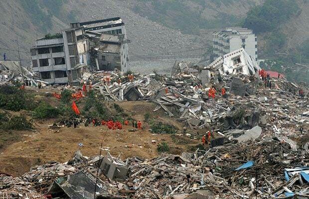 Natural Disaster Wrecked Buildings Tornado