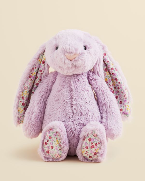 Your little one's first love: a pretty plush bunny from Jellycat with floppy floral ears and feet. | Polyester | Hand wash | Imported | Suitable from birth | Bead eyes, floral print on ears and feet |