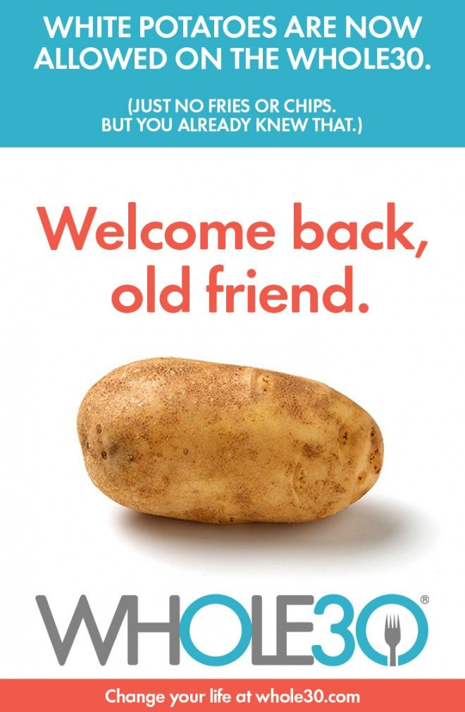 Potatoes are now allowed on the Whole30 program! Read the blog post to understand why.