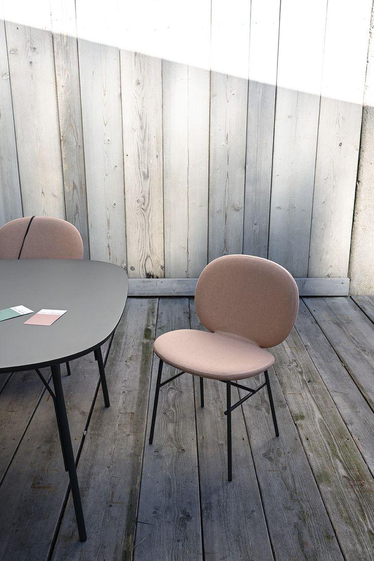 Basic chair design - Fabric Chair Kelly C Basic Tacchini Italia Forniture