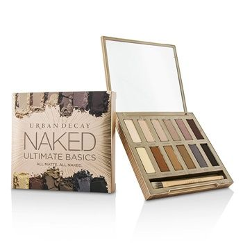 Urban Decay Naked Ultimate Basics Eyeshadow Palette: 12x Eyeshadow, 1x Doubled Ended Blending and Smudger Brush Makeup