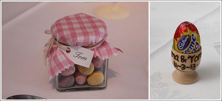 Heaton House Farm - Favour Ideas - Chocolate Favours - Easter Wedding Favours - Sweet Wedding Favours - Chocolate Eggs - Cute Favour Ideas - Wooden Egg Cup - Personalised Wedding Favours