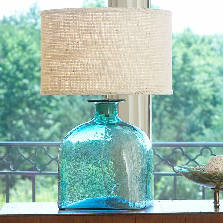 Apothecary Glass Jug Table Lamp   4 Colors